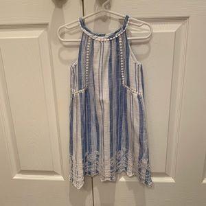 Gap girls blue and white stripe dress